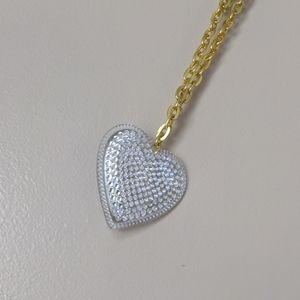 Tarina Tarantino big love silver heart gold chain